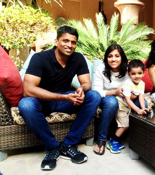 Divya Gokulnath with her Husband Byju & her Son Nish