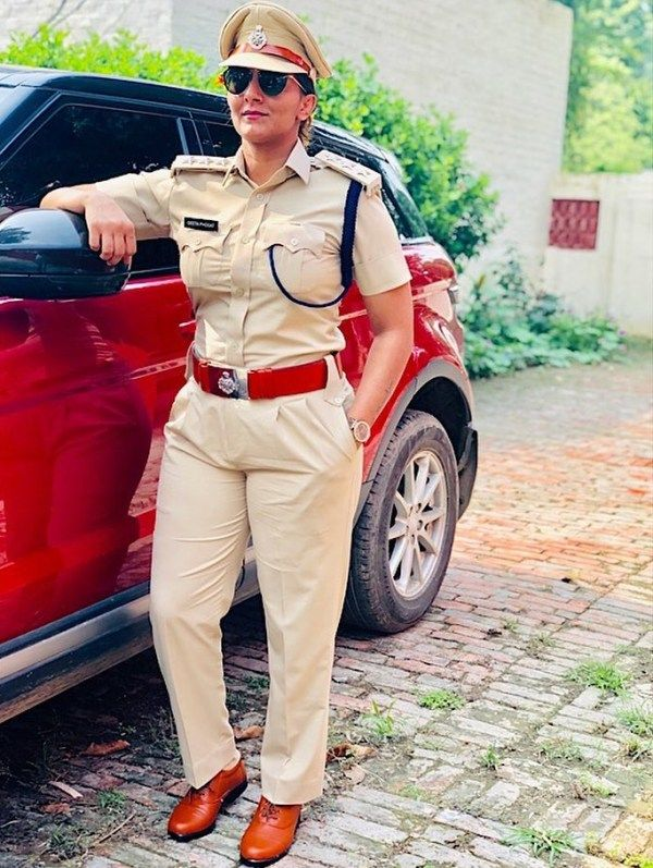 Geeta Phogat in her police uniform