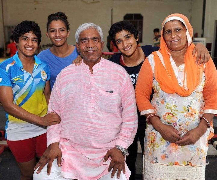 Geeta Phogat with her Family