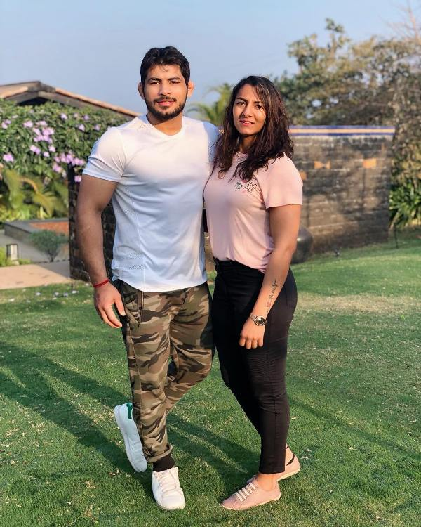 Geeta Phogat with her husband