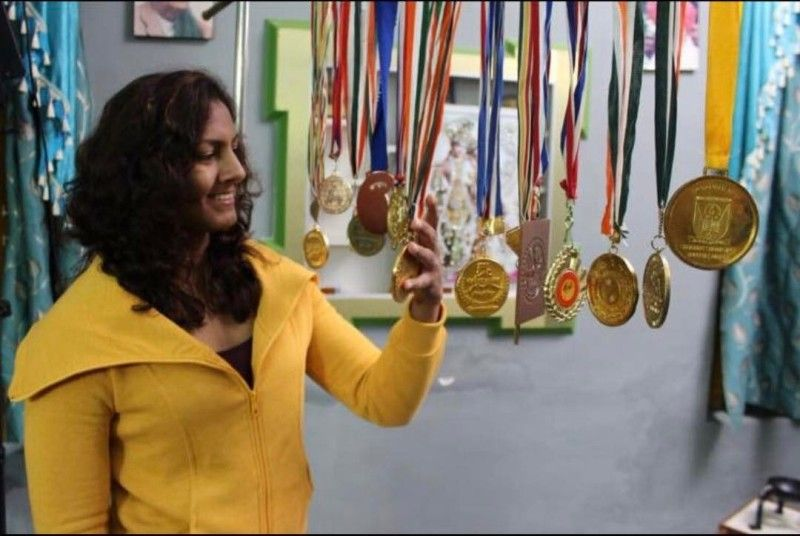 Geeta Phogat with her medals