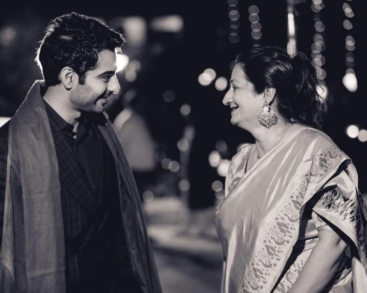 Harshad Arora with his mother