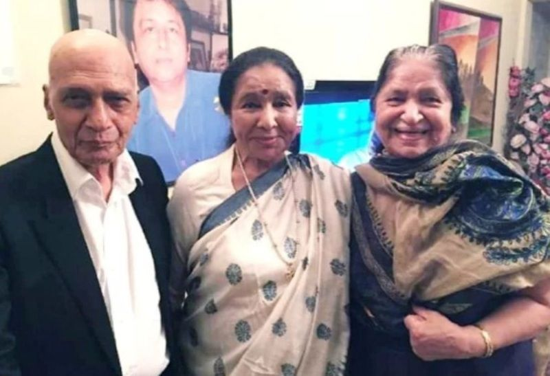 Jagjit Kaur and Khayyam with Asha Bhosle