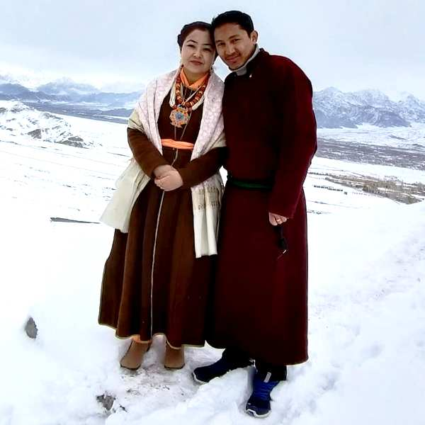 Jamyang Tsering Namgyal With His Wife Sonam Wangmo
