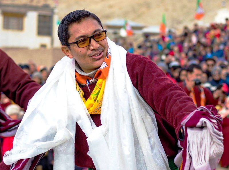 Jamyang Tsering Namgyal after winning in the 2019 General Elections