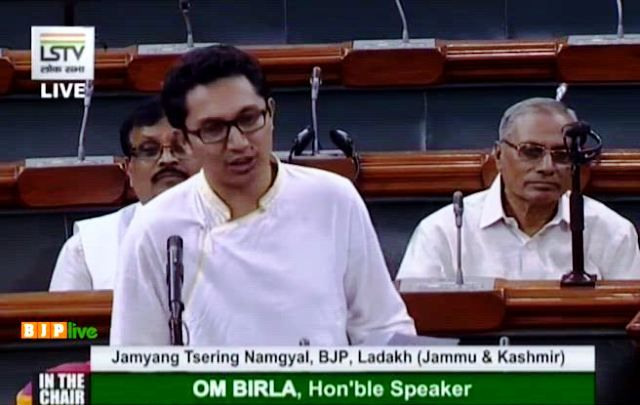 Jamyang Tsering Namgyal speaking in the Parliament