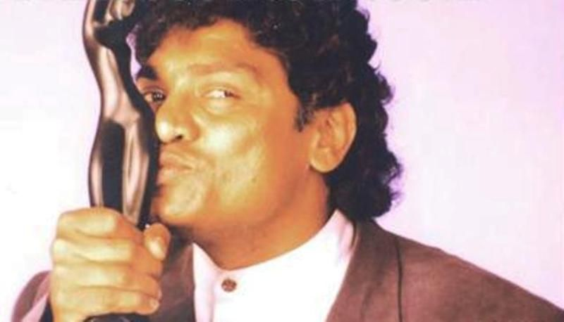 Johnny Lever With His Filmfare