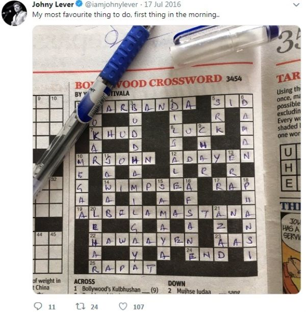 Johnny Lever's Post on Puzzles