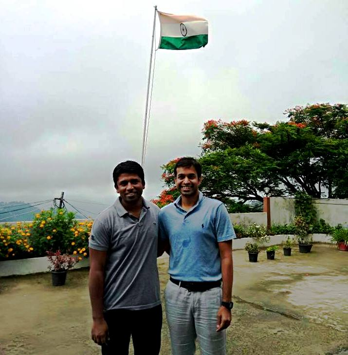 Kannan Gopinathan with Pullela Gopichand