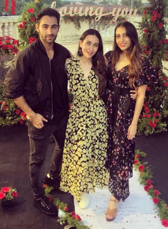 Karishma Kapoor with Anissa Malhotra And Armaan Jain