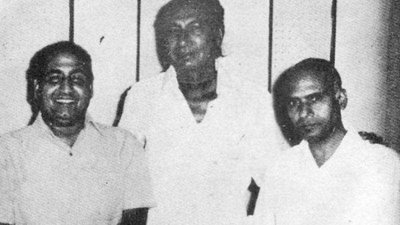 Khayyam with Mohammed Rafi and Sahir Ludhianvi