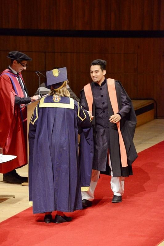 Momin Saqib at his Convocation Ceremony