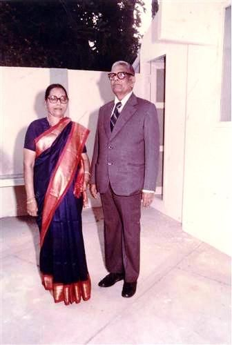 Nalini Chidambaram's parents P.S. Kailasam and Soundara Kailasam