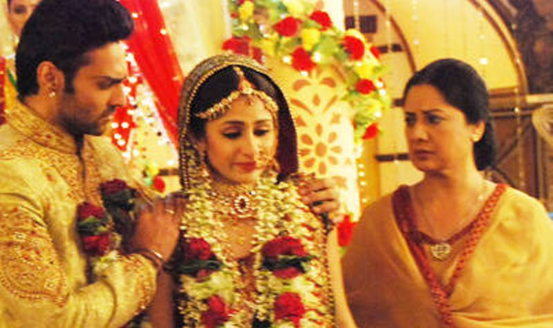 Navi Bhangu in a scene from the show 'Amrit Manthan'