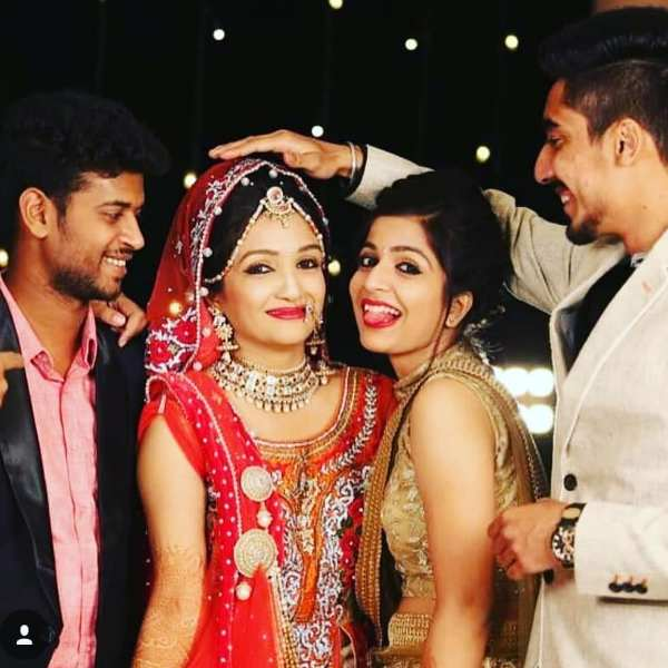 Nikita R Sharma (Star Nick) with her brother Adarsh, Sister Richa and Boyfriend Karan