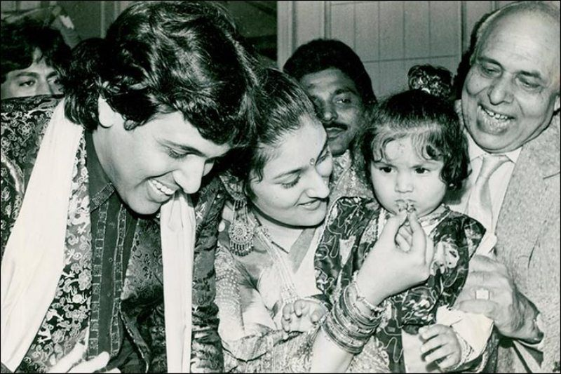 Old Photograph of Govinda and Sunita Ahuja