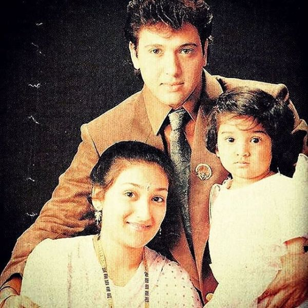 Old Photograph of Govinda and Sunita With Tina