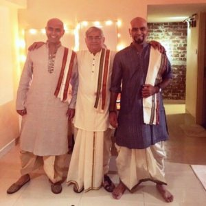 Raghu Ram with His Brother and Father