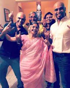 Raghu Ram with His Family