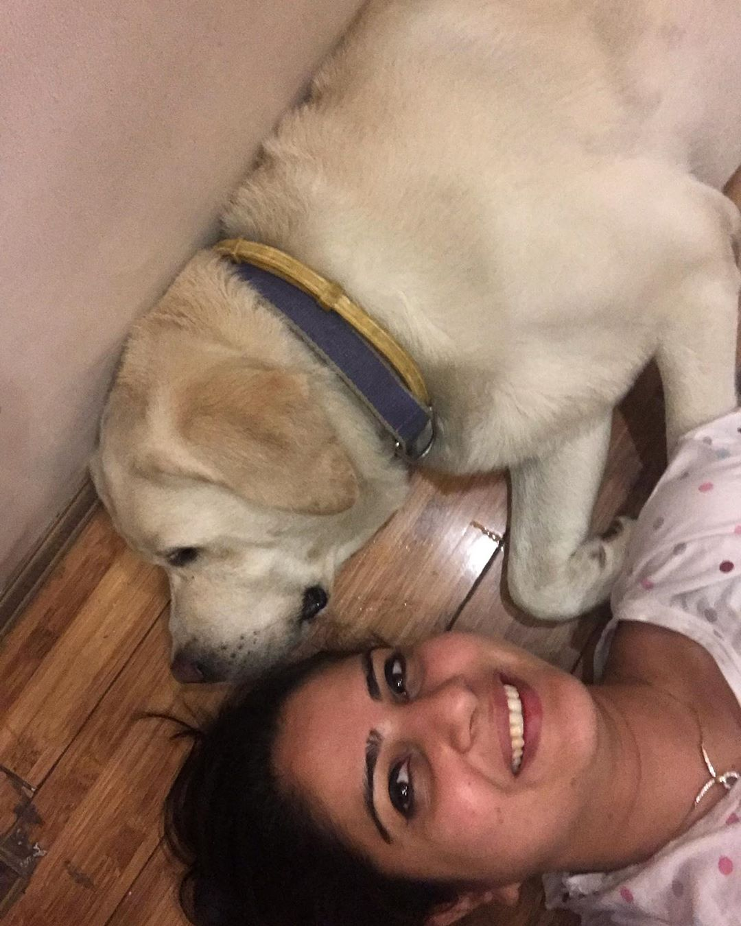 Sakshi Joshi with her pet dog
