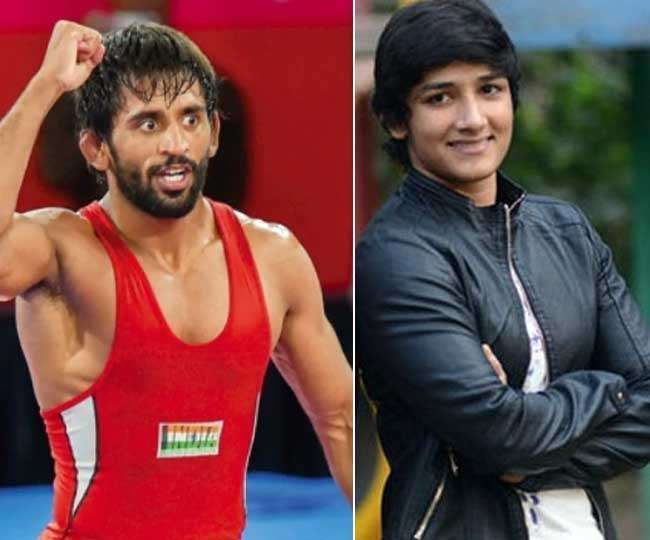 Sangeeta Phogat and Bajrang Punia