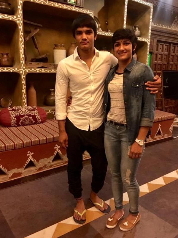 Sangeeta Phogat with her brother