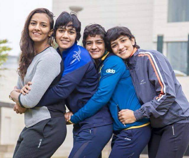 Sangeeta Phogat with her sisters