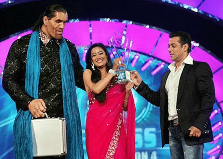 Shweta Tiwari as the winner of Big Boss 4