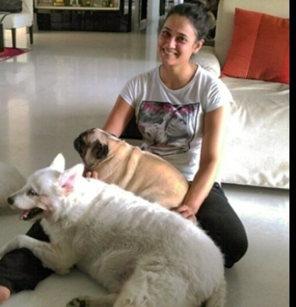 Shweta Tiwari with her pets