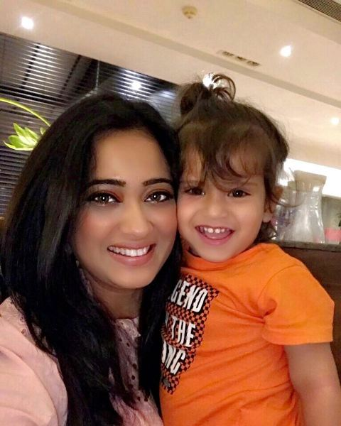 Shweta Tiwari with her son