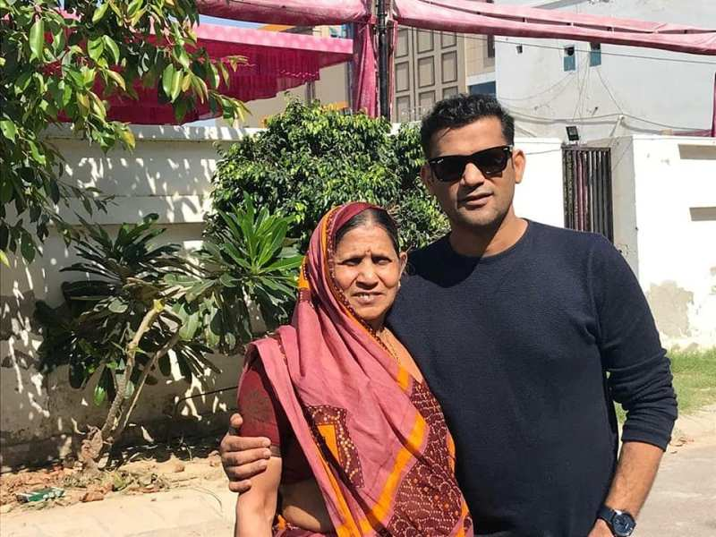 Soham Shah with his mother