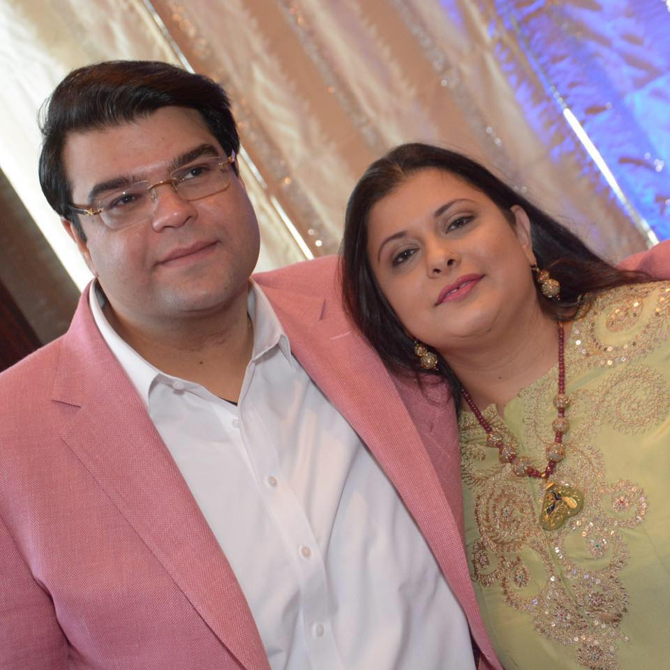 Sonali Jaitley, with her husband, Jaiyesh Bakhshi