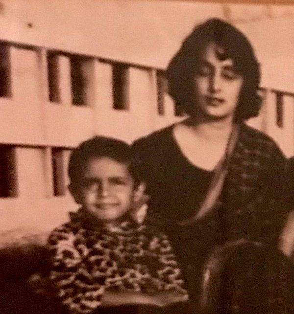 Syed Akbaruddin with his mother