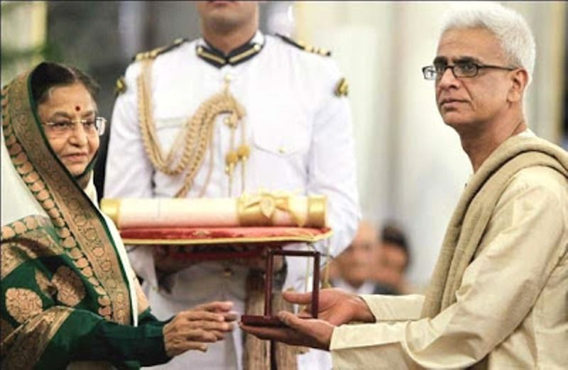 Tez Hazarika Receiving Padma Vibhushan