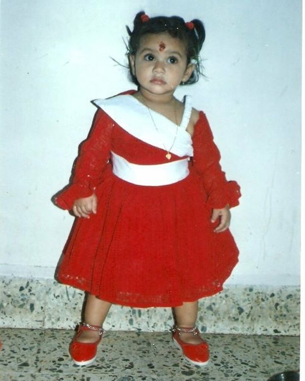 Urvashi Pardeshi as a Child