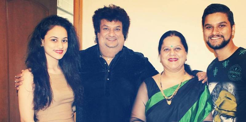 Urvashi Pardeshi with her family