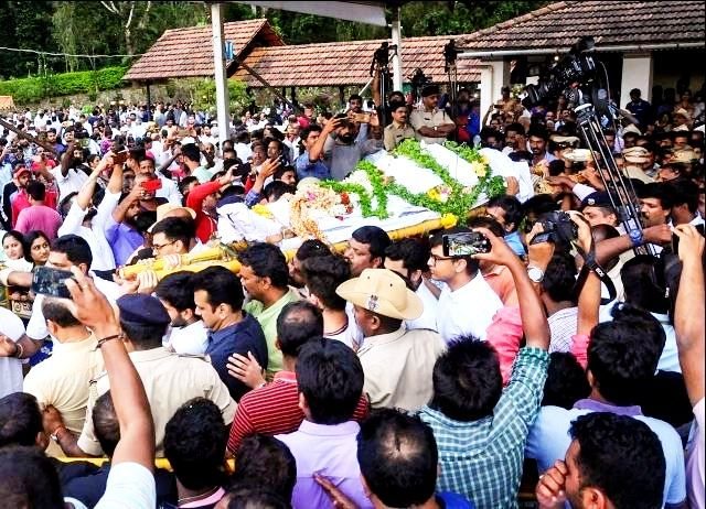 VG Siddhartha's Body Being Taken To Chikmagalur