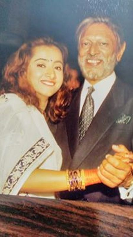 Vijay Karnik with his daughter