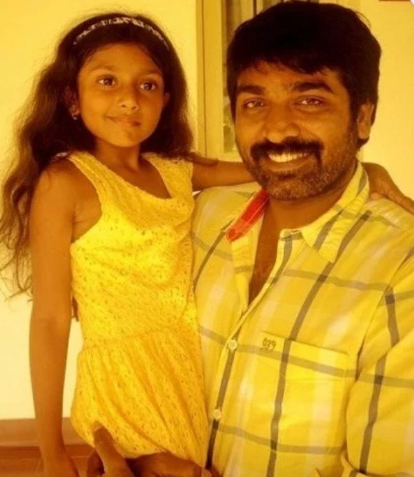 Vijay Sethupathi With his Daughter