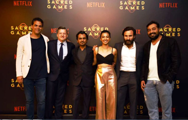 Vikramaditya Motwane at the launch of Sacred Games