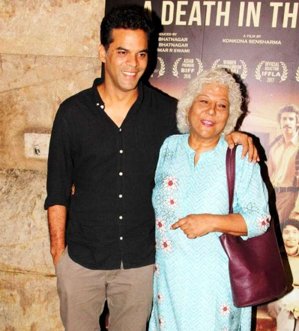 Vikramaditya Motwane with his mother Dipa De Motwane