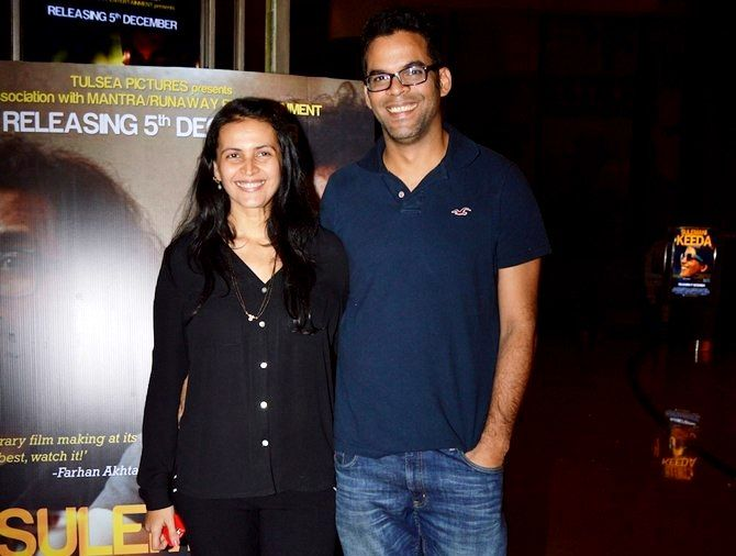 Vikramaditya Motwane with his wife Ishika Mohan