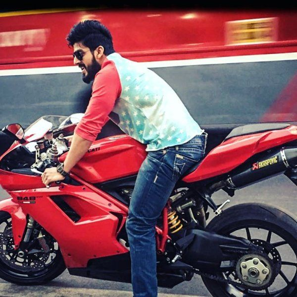 Vishu Reddy riding Ducati