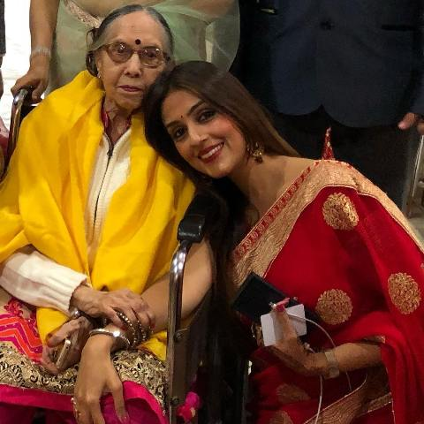 Aarti Chabria with her grandmother