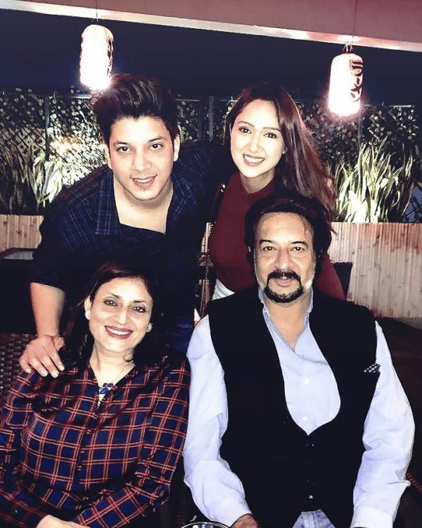 Adhish with His Parents and Girlfriend