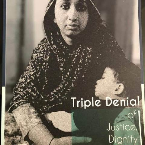 Amber Zaidi's book Triple Denial of Justice, Dignity and Equality