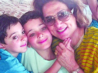 An Early photo of Bina Ramani and her children