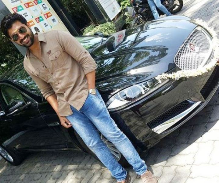 Arun Vijay Posing with Jaguar