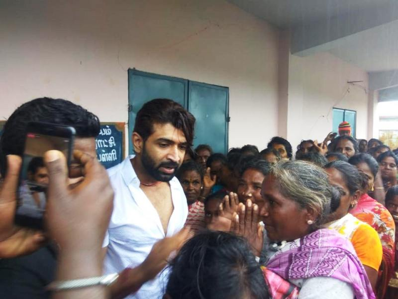 Arun Vijay at a Social Welfare Event