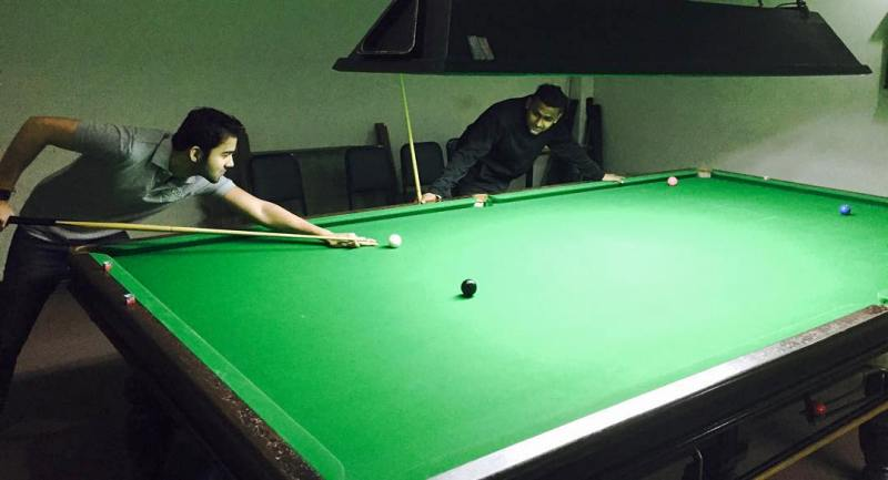 Avinash Mukherjee Playing Snooker
